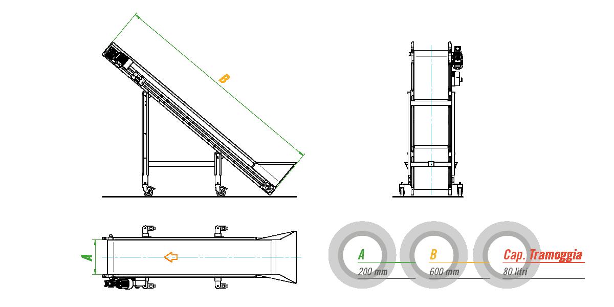 Наклонный конвейер для автоматизированных систем